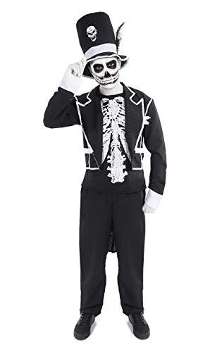 Baron Samedi Voodoo Kostüm Halloween Mottoparty Verkleidung Herren ()