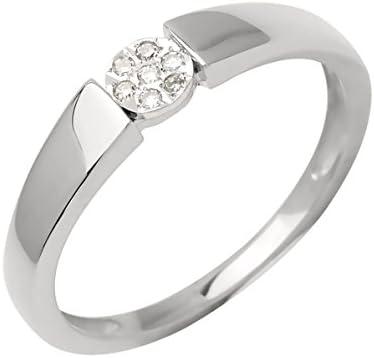 Bijoux pour tous anillos Mujer oro blanco 9 k (375) diamante