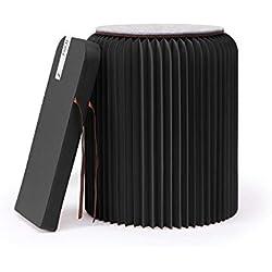 Fold Concept Faltbarer Papier Hocker Papphocker mit Sitzauflage   Innovativ & Multifunktional   Recyclebar & Umweltfreundlich   Wohnzimmer, Arbeitszimmer & Kinderzimmer   Falthocker (Schwarz, 42cm)