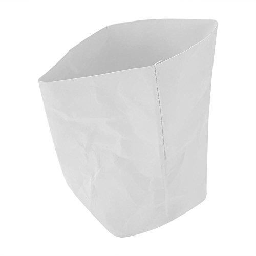 Sac de rangement en papier kraft, lavable Kraft papier sac plante fleurs Pots Home Storage Paniers organisateur Bin(15 * 15cm)