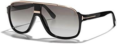 Tom Ford ft0335-01P geométrico Mens gafas de sol-tamaño 60(brillante negro/verde degradado)