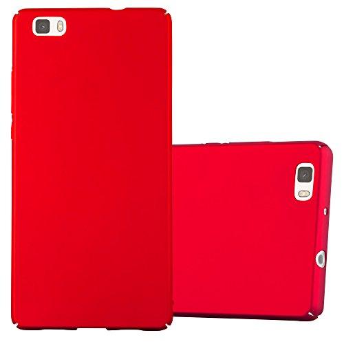 Cadorabo Funda para Huawei P8 Lite 2015 en Metal Rojo - Cubierta Protección de Plástico Duro Super Delgada e Inflexible con Antichoque - Case Cover Carcasa Protectora Ligera