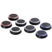 """Hama """"8in1""""-Set Control-Stick Aufsätze für Nintendo Switch Pro Controller (Thumb-Stick Caps für besseren Grip, in 4 Farben) Analog-Stick Schutz-Kappen schwarz-weiß/-blau/-rot/-grau"""