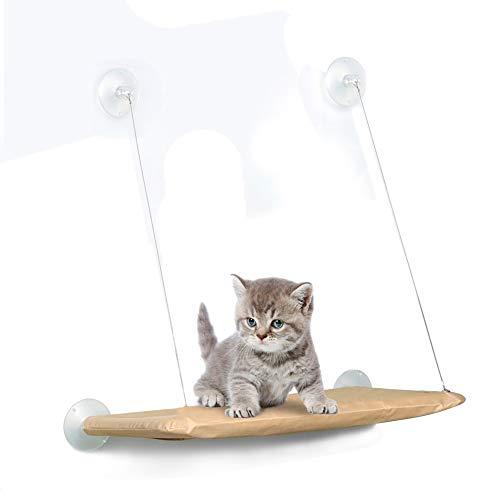 50 lb amaca per finestra con catamarano da con ventose più robuste, lettino per gatto più sicuro per gatti di grandi dimensioni, amaca salvaspazio per gatti, supporto per seggiolino per animali domestici di alta qualità sulla finestra