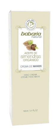 Babaria naturel Crème de Mains Huile d'Amande Organique 100 ml