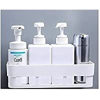CIVILION Multipurpose ABS Plastic Strong Adhesive Kitchen & Bathroom Wall Shelf // Without Drilling // Holder Storage…