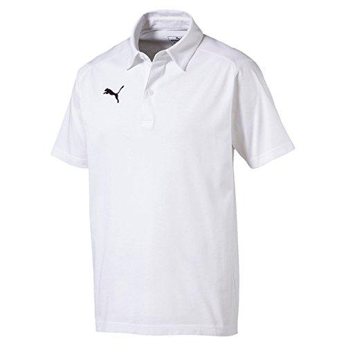 PUMA Herren Liga Casuals Polo T-Shirt White Black, 3XL