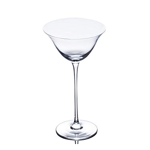 WNLBLB Crystal Cup, Martini Glass Cocktail Glass Red Wine Cup Champagne Cup 2 Pack L transparent Crystal-martini-cocktail