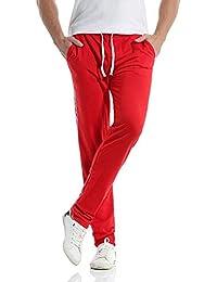 Pantaloni Sportivi Uomo    ABCone Uomini Pantaloni Casuali Slim Sport degli  Uomini A Righe Larghi Harem Pantaloni Lunghi Jogging Leggings… 447fb0c53ded