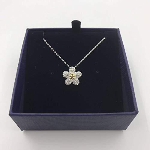 HCC&WHZ Pflaume Klassische Kristall Halskette Frauen plattiert Platin Schlüsselbein Kette hochwertige Version Schmuck