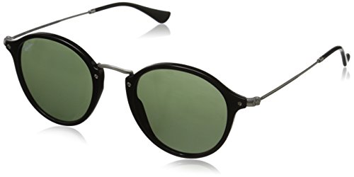 Ray-Ban Unisex Sonnenbrille Rb 2447 Gestell: schwarz,Gläser: grün 901), Medium (Herstellergröße: 49)
