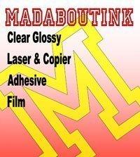 Trasparente lucida per stampanti e fotocopiatrici Laser & Adesivo vinile pellicola, formato A4, confezione da 5 fogli