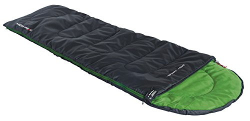 High Peak Schlafsack Easy Travel anthrazit/Grün, 220 x 75 x 7 cm