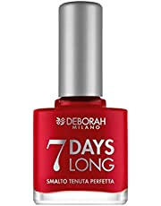 Deborah Milano Ne - 876 7 Days Long Nail Gel, Iconic Red, 11ml