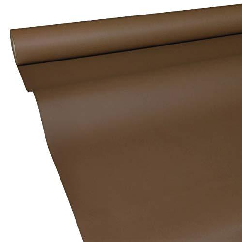 50m x 1,15m JUNOPAX® Papiertischdecke schoko-braun | nass- und wischfest