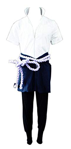 Chong Seng CHIUS Cosplay Costume Outfit for Hidden Leaf Village Uchiha Sasuke Version 4