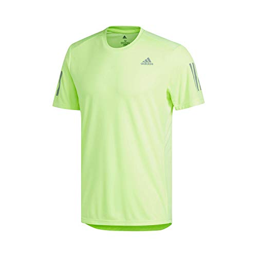 adidas Herren OWN The Run Tee T-Shirt, hi-Res Yellow/Reflective Silver, L