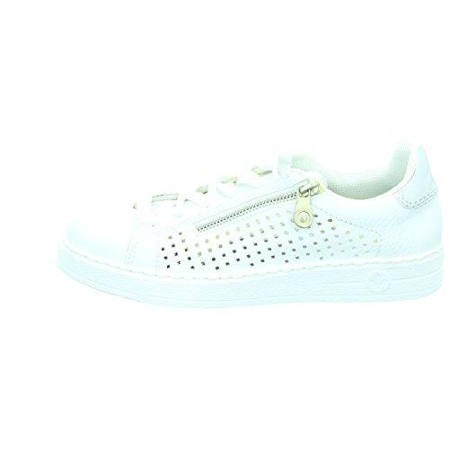 Rieker L1116, Sneakers Basses Femme Blanc (Weiss/argento / 81)