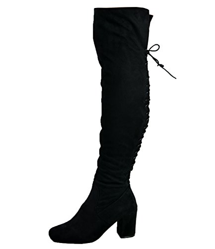 Cucu Fashion Brand New Womens Over The Knee Boots Ladies Back Lace...