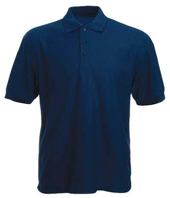 Mens Quality Classic Pique Polo Shirt 220gsm. Navy 4XL