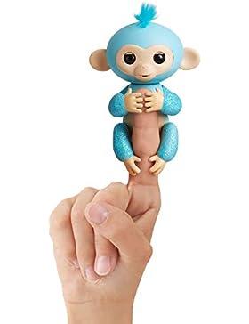 Wow Wee Fingerlings Glitzer Äffchen,  interaktives Spielzeug, reagiert auf Geräusche, Bewegungen und Berührungen