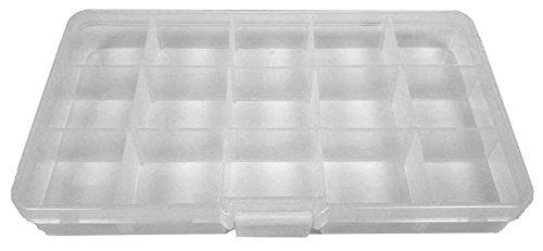 ansio 93908Aufbewahrungsbehälter, kompaktes 15Fächer Verstellbare Kunststoff Aufbewahrungsbox/Jewel Case/Werkzeug Container, - Loom Organizer Armband