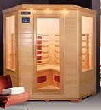 Sauna Infrarossi da 150x65x120 per 4 persone con ionizzatore e cromoterapia