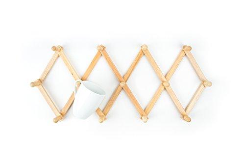 Fox Run Expandable Coffee Mug Wall Rack Tea Cup Holder Kitchen Organization New Mug Rack
