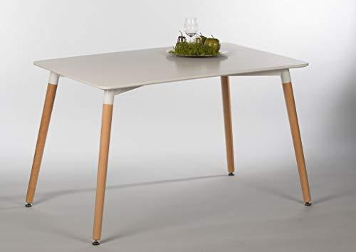 Stella Trading Esstisch Imola 16742 Küchentisch Tisch Esszimmer Weiß/Buche massiv