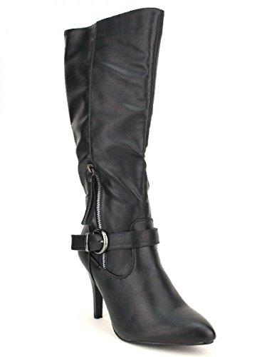 Cendriyon, Bottes Noires GRALAND MODA Chaussures Femme Noir