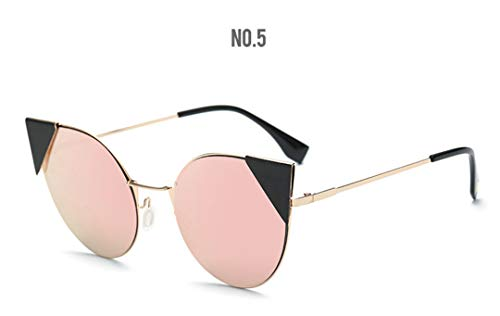 DAIYSNAFDN Mode Cat Eye Sonnenbrillen Frauen Vintage Sonnenbrillen Damenmode Brillen C5