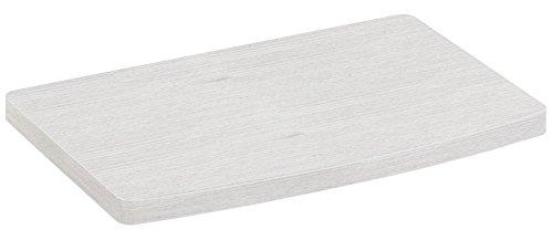 RICOO TV-Drehteller Fernsehtisch LCD Fernsehstand Drehbar FS053W LED Fernseher Tisch Aufsatz Flachbildschirm Podest Flachbildfernseher PC Monitor Drehscheibe Drehplatte Bildschirm Untergestell Universal | Weiß |