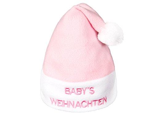 Alsino Weihnachtsmütze Nikolausmütze rosa für Kinder 1-2 Jahre Kopfdurchmesser: 12 cm wm-93