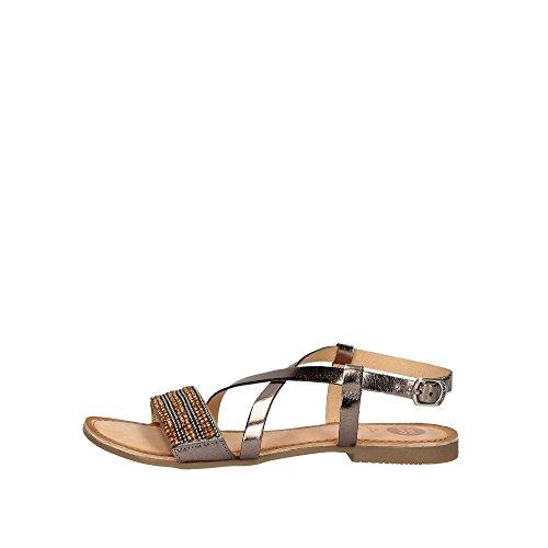 Gioseppo scarpe donna p/e 18 sandali bassi pelle grigio/gioiello - 45278, 39, argento