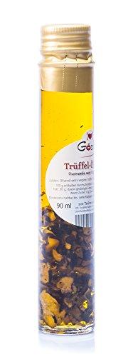 Trüffelöl Göschle Trüffelmanufaktur Delikatessen Feinkost Olivenöl mit 10 g  echter Trüffel für Risotto und Pasta 90 ml