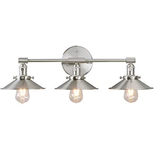 3 luces Vintage Apliques Pared Interruptor Lámpara