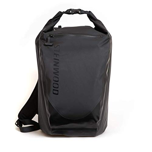 Steinwood Ultimate Dry-Bag 35L Multifunktions-Rucksack - Roll-Top Outdoor-Backpack - Daypack 100% wasserdicht mit Taschen für Laptop und Zubehör -