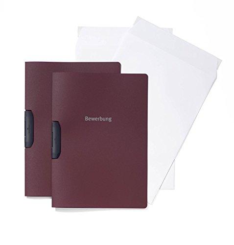 Preisvergleich Produktbild Durable 999107391 Bewerbungsset Duraswing Job, 2 Bewerbungsmappen mit 2 Versandtaschen, dunkelrot