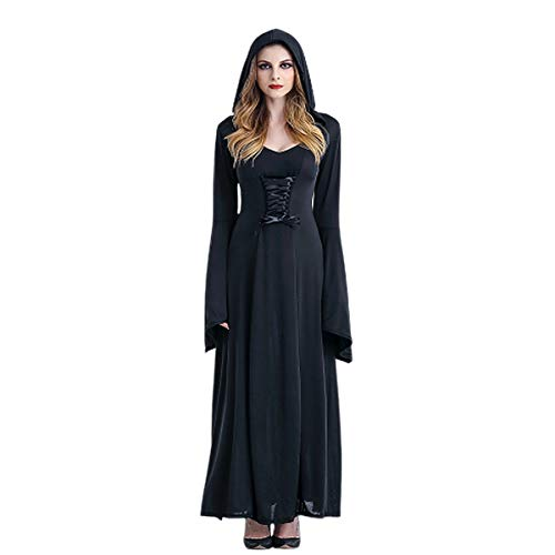 Punk Für Erwachsene Kostüm Hexe - MLYWD Halloween Vampir Teufel Kostüm Hexe Kostüm Kleid Hexe Mantel Mantel Märchenschloss Königin Erwachsenen Punk Gothic Mittelalter Party Karneval Horror Dress Up