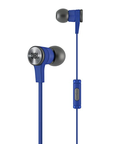 JBL Synchros E10 Auricolari Leggeri con Microfono/Controllo Remoto a 1 Pulsante e Custodia di Trasporto, Compatibile con Dispositivi Apple iOS e Android, Blu