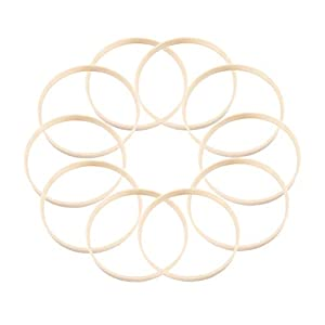 VOSAREA Drahtringe Set 20cm Holz Ringe Handwerk für Traumfänger DIY Handwerk, 10 Stück