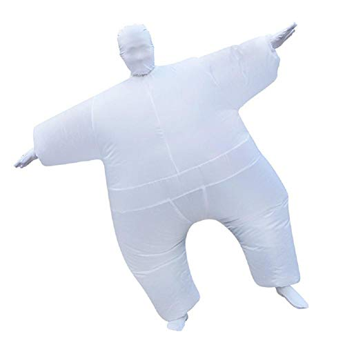 SUNWUKONG Blow Up Full Body Aufblasbare Halloween Kostüm Polyester Bekleidung Overall Fat Anzug für Adult Party Cosplay Fancy Dress 9 Farben, Silver (Party Fett Dekorationen)