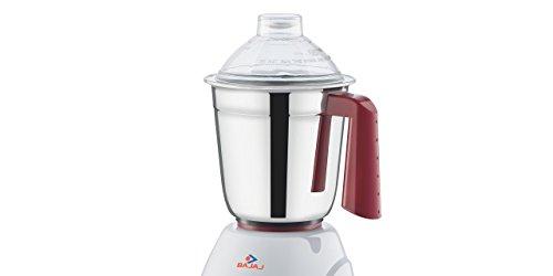 Bajaj Classic 750-Watt Mixer Grinder with 3 Jars (White and Maroon)