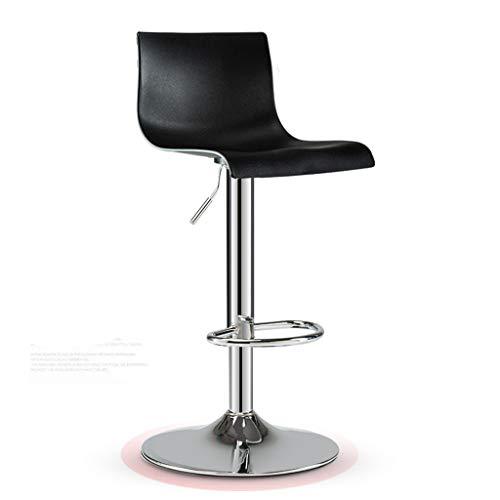 Barstools Chair Cuisine Petit-déjeuner Chaise avec Dossier PP Siège Coussin Ascenseur Tabouret De Bar pour Bar Cuisine Bar Comptoir (Couleur : Noir, Taille : Base 41cm-)