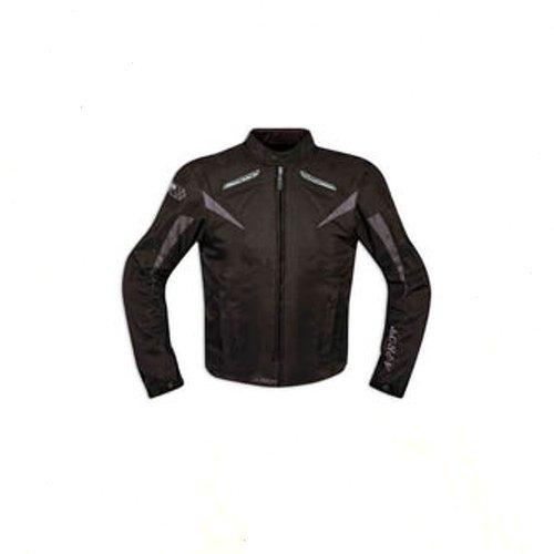 Giacca-Tessuto-Moto-Protezioni-CE-Manica-Staccabile-Gilet-Termico-Nero-XL