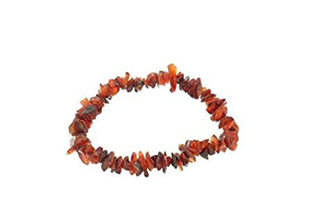 Reiki Attuned Natural Gem Stone Chips Stretch Bracelets (Red Carnelian)