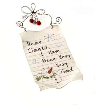 Dear Santa i have been Very, Very Good metal Sign Christmas Plaque