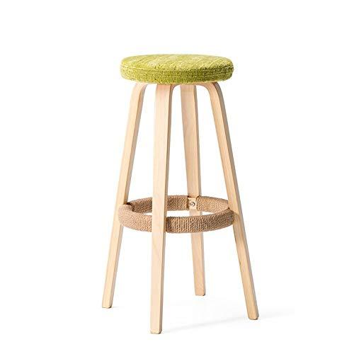 LJFYMX barhocker Leinenstoff Sitz, Küche Frühstück Barhocker Barhocker, Barhocker Barhocker geeignet für Innen/Außen bartisch mit barhocker (Style : A)