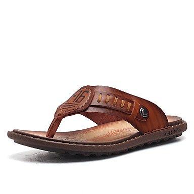Slippers & amp da uomo;Primavera Estate Autunno Comfort pelle bovina Ufficio esterno & amp;Career Dress Cas sandali US8.5-9 / EU41 / UK7.5-8 / CN42