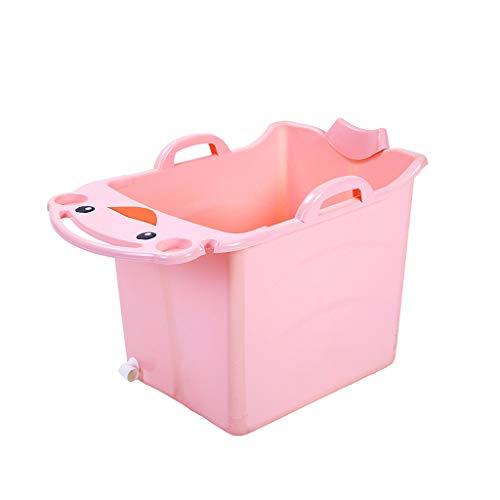 Kinderbadewanne Badewanne für Kinder Kinderbadewanne zum Falten Kinderbadewanne Kinderbaden Kinderschwimmen (Color : Pink)